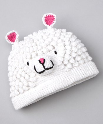 White Mary's Little Lamb Beanie