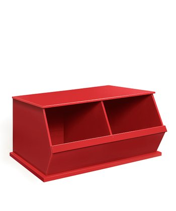 Red Two-Bin Storage Cubby