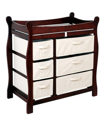 Cherry Sleigh Six-Drawer Changing Table