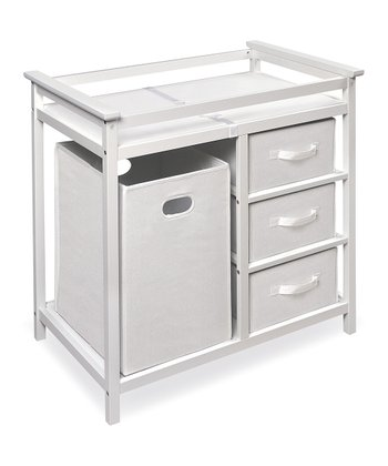 White Modern Changing Table