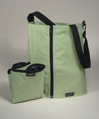 Green Junior Combination Diaper Bag-n-Changing Belt