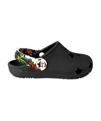 Black Foam Cutout Clog