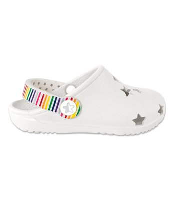 White Foam Cutout Clog