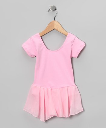 Pink Camisole Chiffon Skirt Leotard - Girls