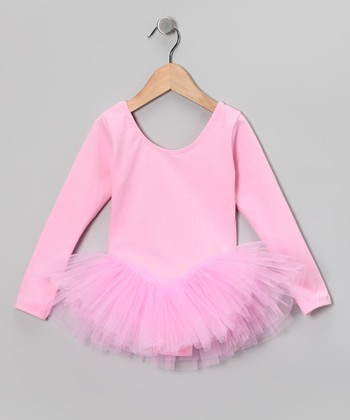 Pink Tutu Long-Sleeve Leotard - Girls