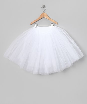 White Tulle Tutu - Girls