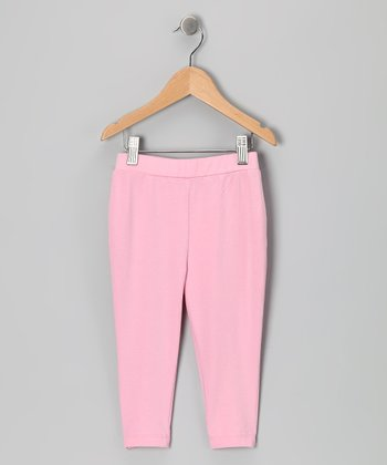 Pink Capri Leggings - Toddler