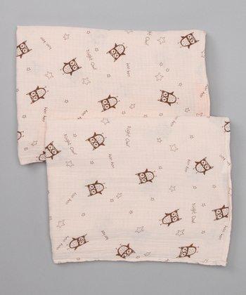 Night Owl Organic Swaddling Blanket Set