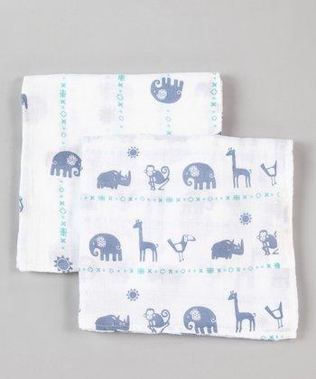 Blue Zoo Organic Swaddling Blanket Set