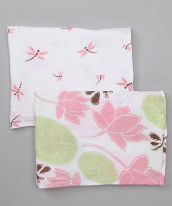 Water Lily Organic Swaddling Blanket Set