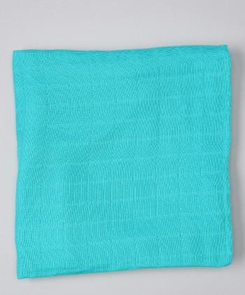 Turquoise Organic Muslin Swaddling Blanket