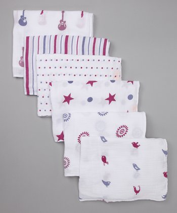 Plum & Pink Swaddle Blanket Set