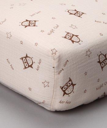 Night Owl Organic Muslin Crib Sheet