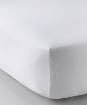 White Organic Muslin Crib Sheet