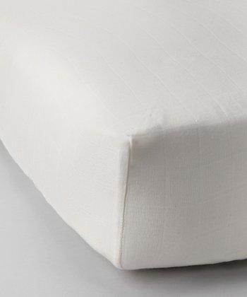 Natural Organic Muslin Crib Sheet