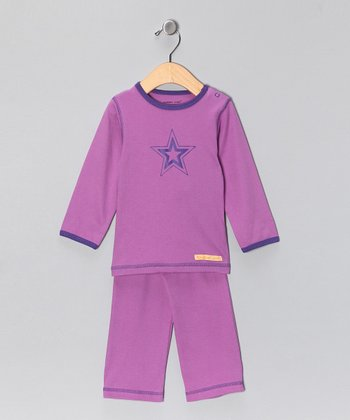 Berry Star Organic Tee & Yoga Pants - Infant