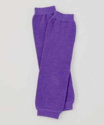 Purple Organic Leg Warmers