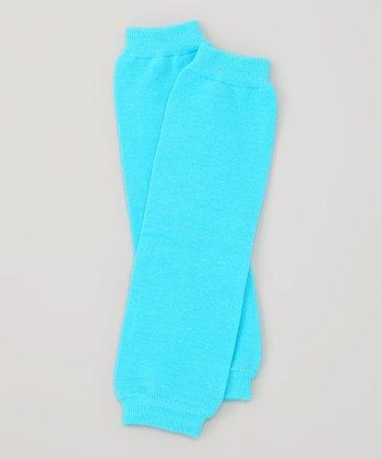 Turquoise Organic Leg Warmers