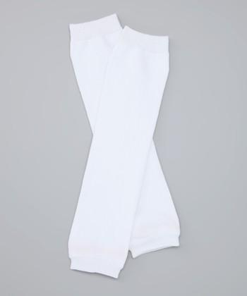 White Organic Leg Warmers
