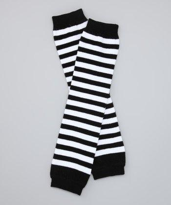 Black & White Stripe Organic Leg Warmers
