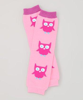 Pink Owl Organic Leg Warmers