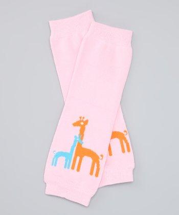 Pink Giraffe Organic Leg Warmers