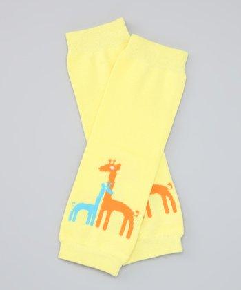 Yellow Giraffe Organic Leg Warmers