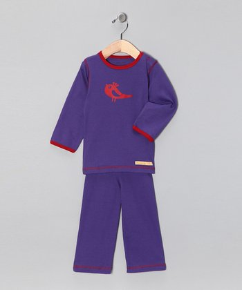 Purple Bird Organic Tee & Yoga Pants - Infant & Toddler