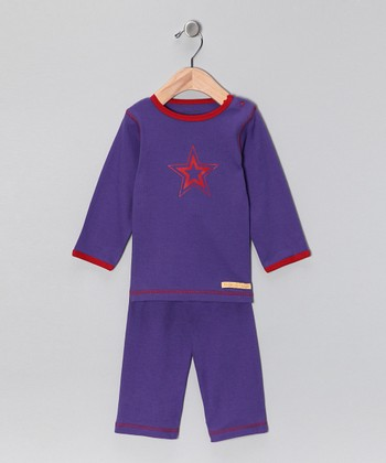Purple Star Organic Tee & Yoga Pants - Infant & Toddler