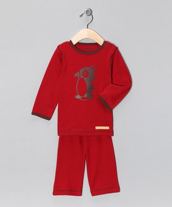 Red Penguin Organic Tee & Yoga Pants - Infant & Toddler