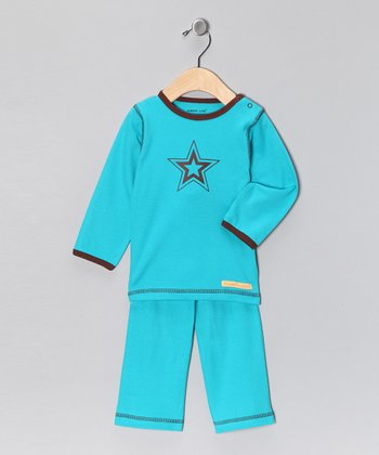 Teal Star Organic Tee & Yoga Pants - Infant & Toddler