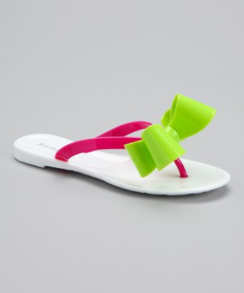 White Bow Lincoln Flip-Flop