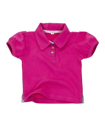 Pink Rhubarb & Custard Organic Polo - Infant & Girls