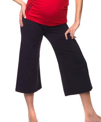 Bao Bei Black Crop It Maternity Capri Pants
