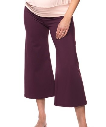 Bao Bei Eggplant Crop It Maternity Capri Pants