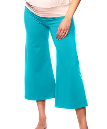 Bao Bei Turquoise Crop It Maternity Capri Pants