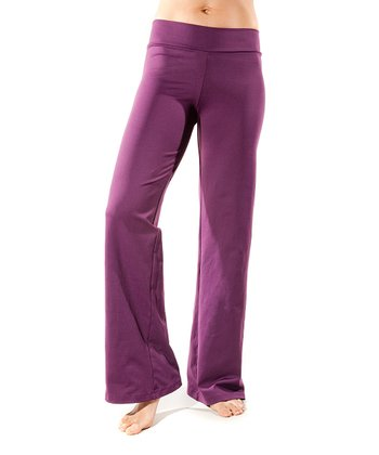 Eggplant Just Right Long Maternity Yoga Pants