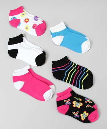 Black & Pink Garden Socks Set