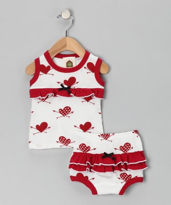 Red Heart Organic Tank & Diaper Cover - Infant