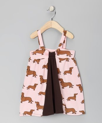 Pink Haute Dogs Farmer's Daughter Organic Dress - Toddler & Girls