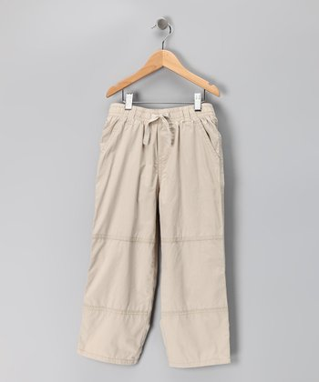 Khaki Microfiber Pants - Toddler & Boys