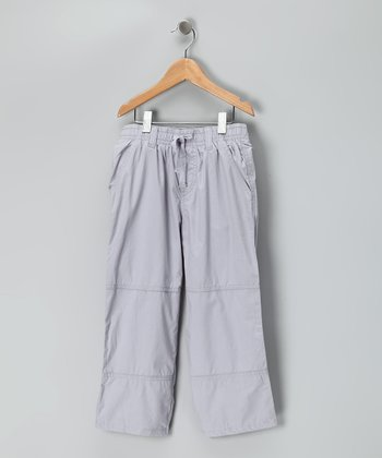 Pewter Microfiber Pants - Toddler & Boys
