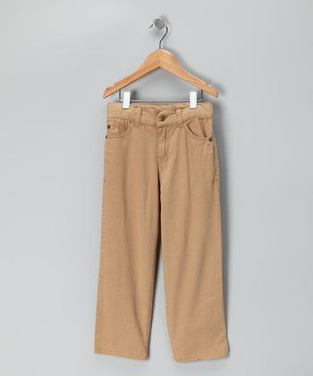Camel Relaxed Fit Pants - Toddler & Boys