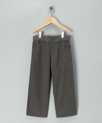Charcoal Relaxed Fit Pants - Toddler & Boys