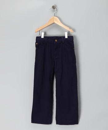 Navy Relaxed Fit Pants - Boys