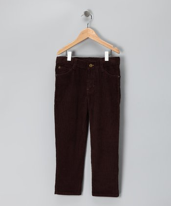 Brown Straight-Leg Corduroy Pants - Toddler & Boys