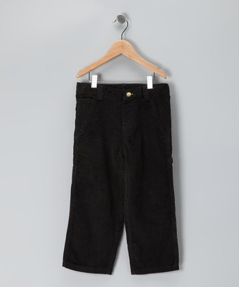 Black Corduroy Carpenter Pants - Toddler & Boys