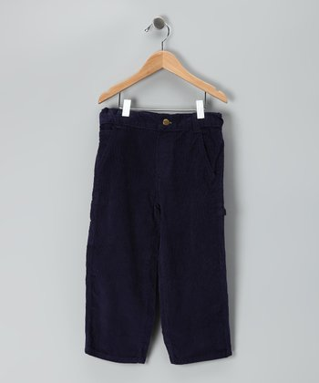 Navy Corduroy Carpenter Pants - Toddler & Boys