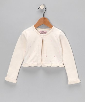Bone Bead Crop Cardigan - Toddler