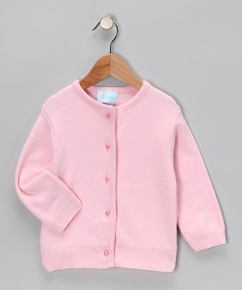 Pink Pearl-Button Cardigan - Infant, Toddler & Girls